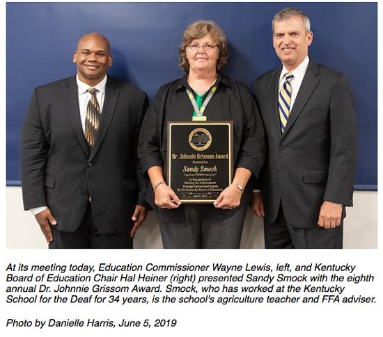 Dr. Johnnie Grissom Award